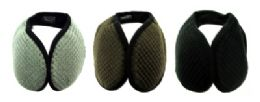 48 Bulk Earmuffs With A Band That Goes Behind The Head With A Diamond Shaped Design Print In Assorted Colors