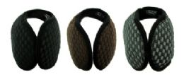 48 Bulk Earmuffs With A Band That Goes Behind The Head With An X Shaped Design Print