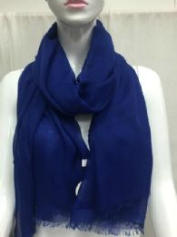 36 Bulk Ladies Summer Fashion Scarf Navy Solid Color