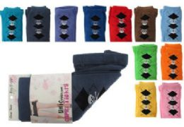 48 Bulk Assorted Colored Capri Tights With Skull And Argyle Designs.