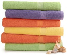 24 Bulk Martex Staybright Solid Color Luxury Bath Towel 30 X 54 Green Ice