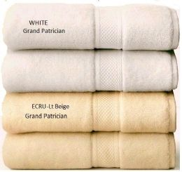 24 Bulk Grand Patrician Suites Luxury Hand Towels In Ecru (light Biege) 16 X 26
