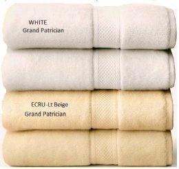 24 Bulk Grand Patrician Suites Luxury Wash Cloths Towels In Ecru (light Biege) 13 X 13