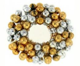 72 Bulk Assorted Goldtone And Silvertone Beaded Bun Cover