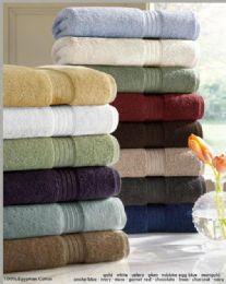 12 Bulk Designer Luxury Bath Towels 100% Egyptian Cotton In Celery Green