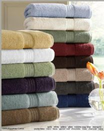 12 Bulk Designer Luxury Bath Towels 100% Egyptian Cotton In Moss Green