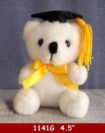"""36 Bulk 4.5"""" White Graduation Bear"""
