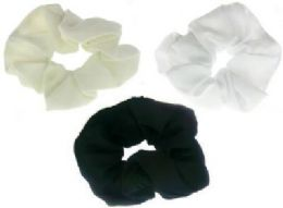72 Bulk Assorted Color Nylon Scrunchies