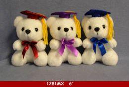 """60 Bulk 6"""" White Graduation Bear"""