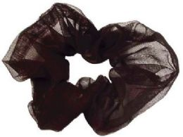 72 Bulk Black Nylon Scrunchies