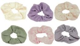 72 Bulk Assorted Pastel Colored Scrunchies