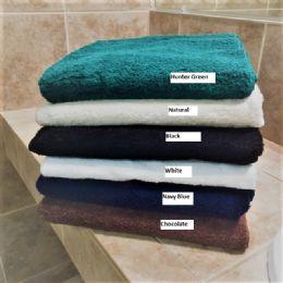 6 Bulk Plush Loop Terry Bath Towel Dobby Hem Long Lasting Soft And Durable In Hunter Green