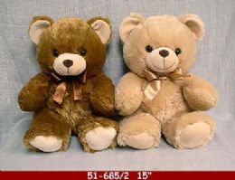 "12 Bulk 15"" Soft Plush Bear With Love Heart"