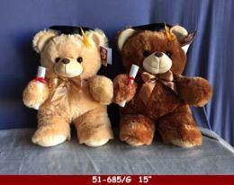 """12 Bulk 15"""" Soft Plush Grad Bear"""