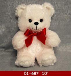 """24 Bulk 10"""" Soft White Plush Bear"""