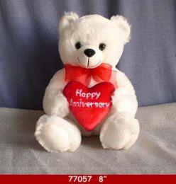 24 Bulk Soft Plush Anniversary Bear