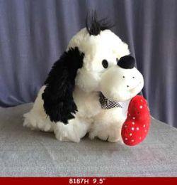 """18 Bulk 9.5"""" Plush Cartoon Dog"""