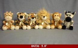 "60 Bulk 5.8"" Plush Wild Animal Toy"