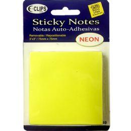 48 Bulk 3 Pack Sticky Notes, 50 Sheets Each