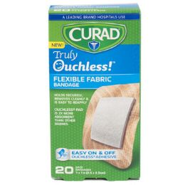 48 Bulk Bandages Curad 20ct Ouchless 1 In Spot Silicone