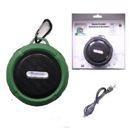 12 Bulk Waterproof Bluetooth Shower Speaker In Green