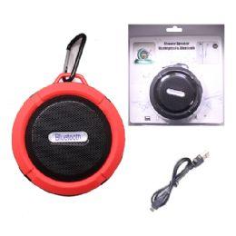 12 Bulk Waterproof Bluetooth Shower Speaker In Red