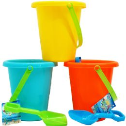 48 Bulk Beach Toy Bucket With Shovel