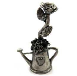 10 Bulk Candle Snuffer Made Of Pewter Shaped As A Watering Can With Roses Inside