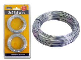 96 Bulk 2pc Silver Wire, 25m Each