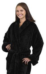 4 Bulk Tahoe Fleece Shawl Collar Robe In Black