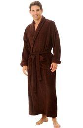 4 Bulk Tahoe Fleece Shawl Collar Robe In Brown
