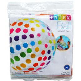 "24 Bulk 42"" Jumbo Beach Ball In Pegable Poly Bag"