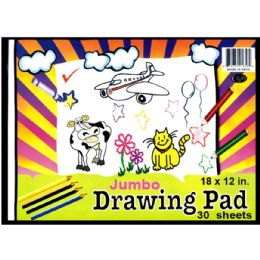 48 Bulk Jumbo Drawing Pad, 9x12, 30 Sheets