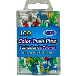 48 Bulk Color Push Pins 60ct