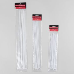 96 Bulk 16pc Jumbo White Cable Ties