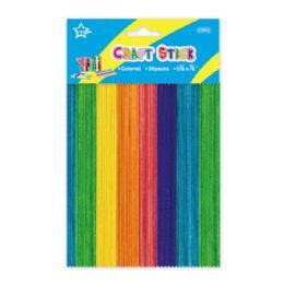 96 Bulk Colored Wooden Craft Stick