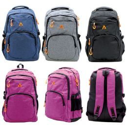 12 Bulk Backpack Assorted Colors