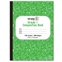 72 Bulk Primary Composition Book In Green