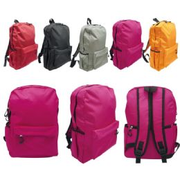 24 Bulk Backpack Assorted Colors