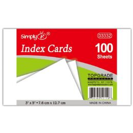 108 Bulk 100 Count Unruled Index Card