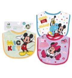 72 Bulk Disney Mickey Baby Small Bibs
