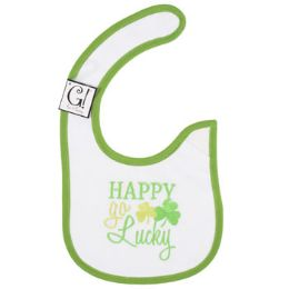 144 Bulk Happy Go Lucky Baby Bib