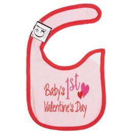 144 Bulk First Valentine's Day Baby Bib
