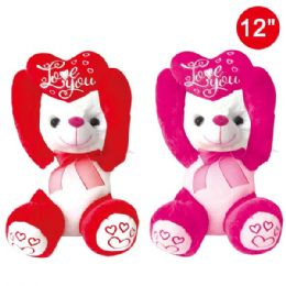 12 Bulk Twelve Inch Bear With Heart