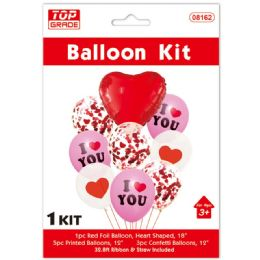 60 Bulk Valentines Day Balloon Set