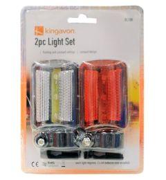48 Bulk 2 Piece Bicycle Safety Flashlight Set
