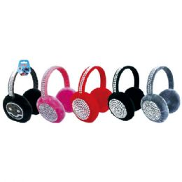 48 Bulk Ear Muff With Rhinestone