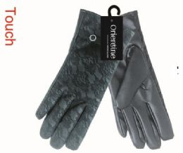 48 Bulk Lady's Touch Gloves Man Made Leather
