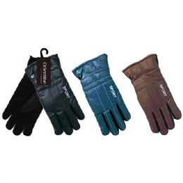 48 Bulk Men's Gloves Man Made Leather
