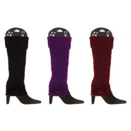 48 Bulk Knit Leg Warmers